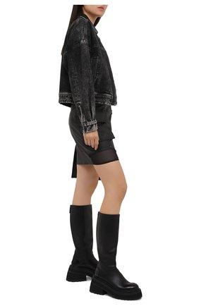 Женская джинсовая куртка J BRAND серого цвета, арт. JB003119   Фото 2