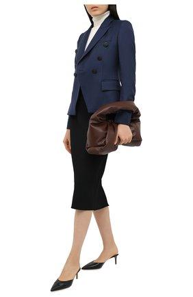 Женский шерстяной жакет STELLA MCCARTNEY темно-синего цвета, арт. 496813/SGB07 | Фото 2
