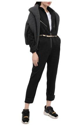 Женский джинсовый комбинезон STELLA MCCARTNEY черного цвета, арт. 600241/S0H08 | Фото 2