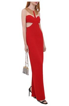Женское платье-макси STELLA MCCARTNEY красного цвета, арт. 602004/SNA28 | Фото 2