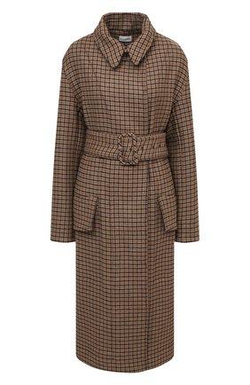 Женское шерстяное пальто BY MALENE BIRGER коричневого цвета, арт. Q69220001/B0URD0N | Фото 1