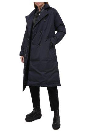 Женский пуховое пальто TANAKA темно-синего цвета, арт. ST-49D | Фото 2