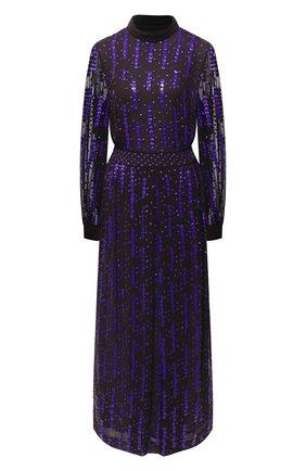 Женское платье из вискозы DRIES VAN NOTEN фиолетового цвета, арт. 202-18625-1435 | Фото 1