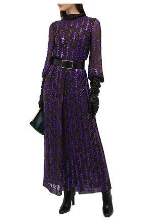Женское платье из вискозы DRIES VAN NOTEN фиолетового цвета, арт. 202-18625-1435 | Фото 2