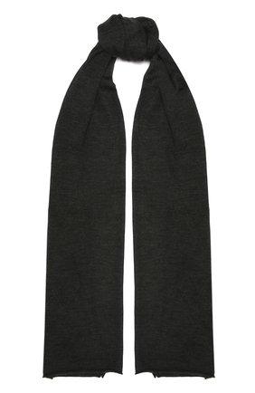 Мужские шарф из кашемира и шелка CRUCIANI темно-серого цвета, арт. AC7070 | Фото 1
