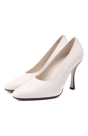 Женские кожаные туфли TOD'S белого цвета, арт. XXW04D0DV30G0C | Фото 1