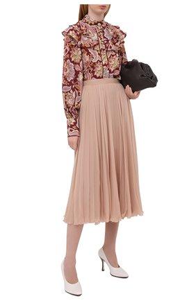 Женские кожаные туфли TOD'S белого цвета, арт. XXW04D0DV30G0C | Фото 2