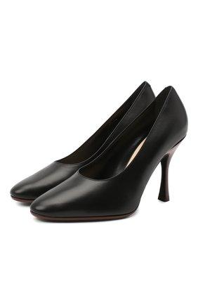 Женские кожаные туфли TOD'S черного цвета, арт. XXW04D0DV30G0C | Фото 1
