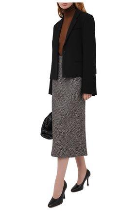 Женские кожаные туфли TOD'S черного цвета, арт. XXW04D0DV30G0C | Фото 2