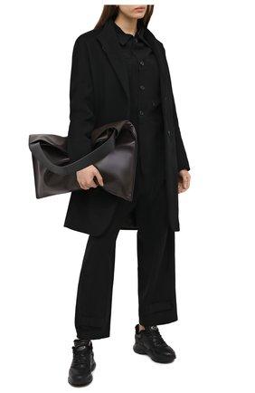 Женские кожаные кроссовки TOD'S черного цвета, арт. XXW54C0DP710V7   Фото 2