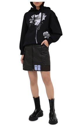 Женская юбка MCQ черного цвета, арт. 623781/RPF22 | Фото 2