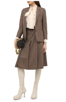 Женская шерстяная юбка GUCCI коричневого цвета, арт. 633219/ZAFAW | Фото 2
