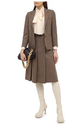 Женский шерстяной жакет GUCCI коричневого цвета, арт. 633330/ZAFAW | Фото 2