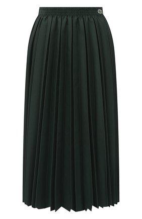 Женская юбка LACOSTE зеленого цвета, арт. JF4762 | Фото 1