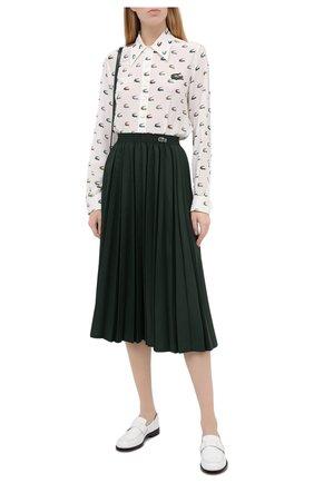 Женская юбка LACOSTE зеленого цвета, арт. JF4762 | Фото 2