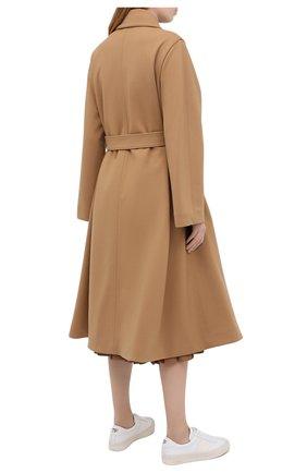 Женское двубортное пальто LACOSTE бежевого цвета, арт. BF4761   Фото 4