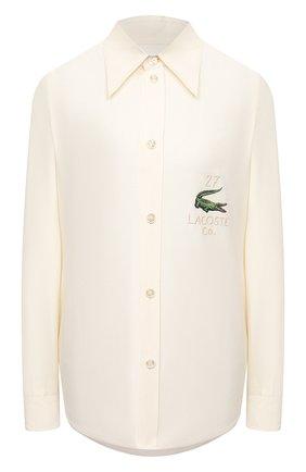 Женская шелковая рубашка LACOSTE бежевого цвета, арт. CF3222 | Фото 1