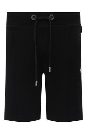 Мужские хлопковые шорты PHILIPP PLEIN черного цвета, арт. A20C MJT1748 PJO002N | Фото 1
