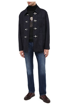 Мужские кожаные кеды SANTONI бордового цвета, арт. MBGL20851CHIRG0TB66 | Фото 2