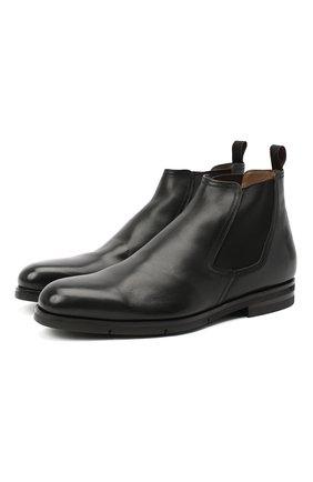Мужские кожаные челси SANTONI черного цвета, арт. MCAZ16456SI5AKYBN01 | Фото 1