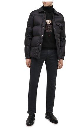 Мужские кожаные челси SANTONI черного цвета, арт. MCAZ16456SI5AKYBN01 | Фото 2