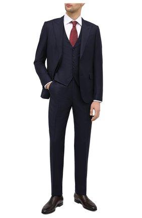 Мужские кожаные оксфорды SANTONI темно-коричневого цвета, арт. MCLE16207SI1ESCST52 | Фото 2