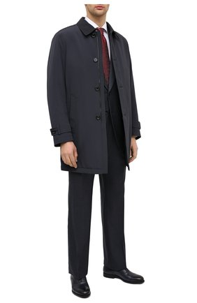 Мужские кожаные оксфорды SANTONI темно-синего цвета, арт. MGNP17286SM0ICLBU42 | Фото 2