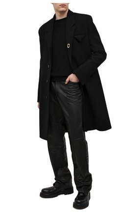 Мужской кожаные дерби VETEMENTS черного цвета, арт. MAH21FL230 2450 | Фото 2