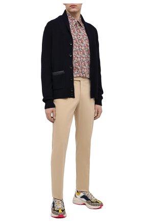 Мужская хлопковая рубашка GUCCI разноцветного цвета, арт. 636668/ZAFKW | Фото 2