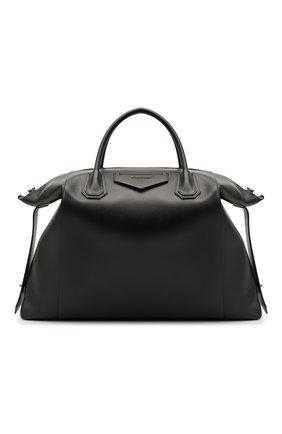 Мужская кожаная дорожная сумка GIVENCHY черного цвета, арт. BK507NK0ZZ | Фото 1