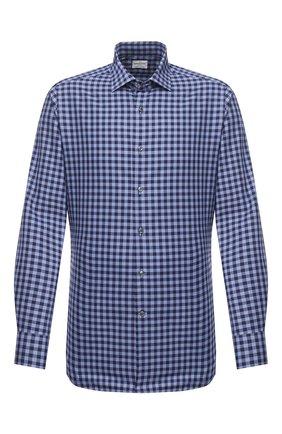 Мужская хлопковая сорочка BAGUTTA синего цвета, арт. 380_EBL/10548 | Фото 1