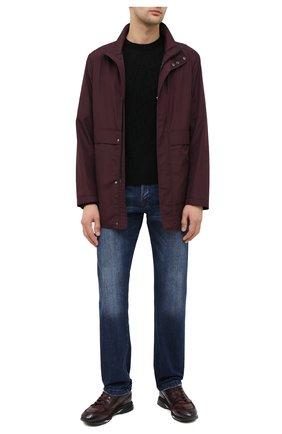 Мужские кожаные кроссовки SANTONI бордового цвета, арт. MBEN21167NGGRG0DB66   Фото 2