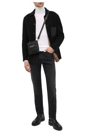 Мужская кожаная сумка vannie BALLY черного цвета, арт. VANNIE/10   Фото 2