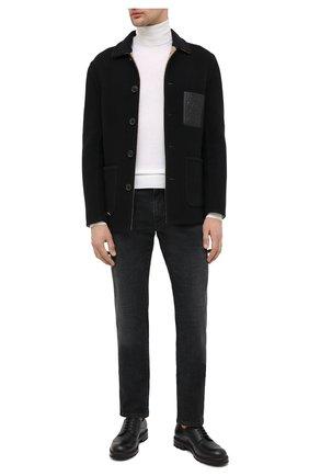 Мужской кожаные дерби BALLY черного цвета, арт. C0RBAR/20 | Фото 2