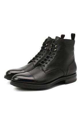 Мужские кожаные ботинки SANTONI черного цвета, арт. MC0S14573UL3APILN51 | Фото 1