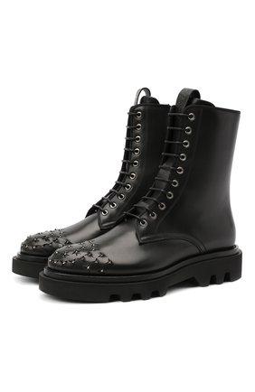 Мужские кожаные ботинки GIVENCHY черного цвета, арт. BH6027H0KF | Фото 1