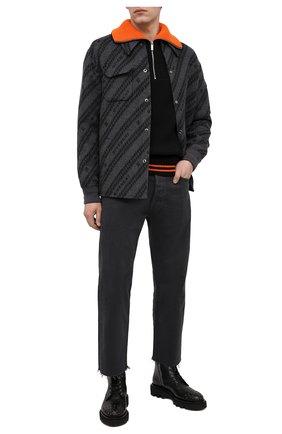 Мужские кожаные ботинки GIVENCHY черного цвета, арт. BH6027H0KF | Фото 2