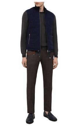 Мужские кожаные слипоны ALDO BRUE темно-синего цвета, арт. ABG02K-VP.P.960 | Фото 2