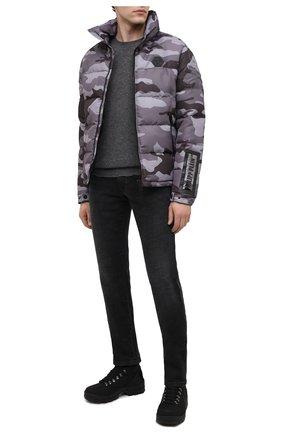 Мужские комбинированные ботинки clement MONCLER черного цвета, арт. F2-09A-4G701-00-019EJ | Фото 2 (Материал внутренний: Натуральная кожа, Текстиль; Каблук высота: Высокий; Подошва: Массивная; Материал внешний: Кожа; Мужское Кросс-КТ: Ботинки-обувь, Хайкеры-обувь)