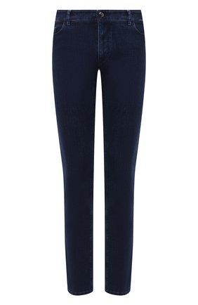 Мужские джинсы ZILLI синего цвета, арт. MCU-00061-SSBC1/S001/AMIS | Фото 1 (Длина (брюки, джинсы): Стандартные; Материал внешний: Хлопок; Силуэт М (брюки): Прямые; Стили: Кэжуэл)
