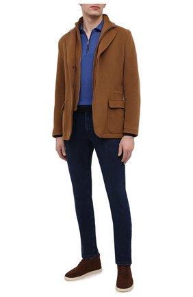 Мужские джинсы ZILLI синего цвета, арт. MCU-00061-SSBC1/S001/AMIS | Фото 2 (Длина (брюки, джинсы): Стандартные; Материал внешний: Хлопок; Силуэт М (брюки): Прямые; Стили: Кэжуэл)
