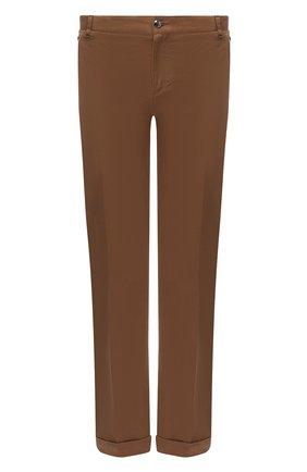 Мужские хлопковые брюки ZILLI коричневого цвета, арт. M0U-D0180-LUCC1/R001/AMIS   Фото 1