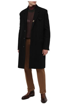 Мужские хлопковые брюки ZILLI коричневого цвета, арт. M0U-D0180-LUCC1/R001/AMIS   Фото 2