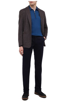 Мужские хлопковые брюки ZILLI темно-синего цвета, арт. M0U-D0180-LUCC1/R001/AMIS | Фото 2