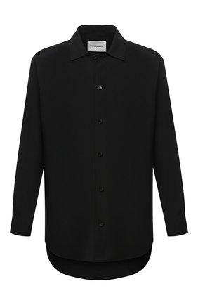 Мужская шерстяная рубашка JIL SANDER черного цвета, арт. JSMR742226-MR203400 | Фото 1