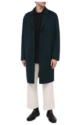 Мужская шерстяная рубашка JIL SANDER черного цвета, арт. JSMR742226-MR203400 | Фото 2