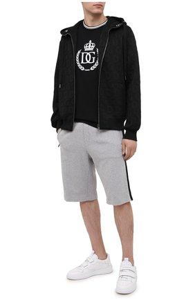 Мужские хлопковые шорты DOLCE & GABBANA светло-серого цвета, арт. GYWUAT/G7WSP | Фото 2