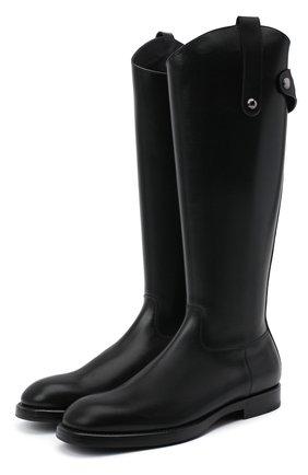 Мужские кожаные сапоги DOLCE & GABBANA черного цвета, арт. A70040/AW375 | Фото 1