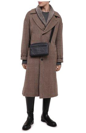 Мужские кожаные сапоги DOLCE & GABBANA черного цвета, арт. A70040/AW375 | Фото 2