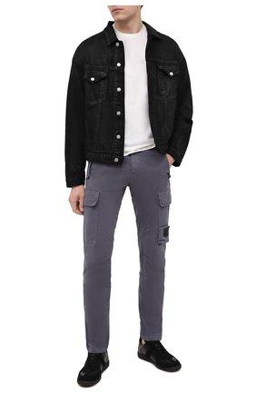 Мужской хлопковые брюки-карго C.P. COMPANY темно-синего цвета, арт. 09CMPA135A-005529G | Фото 2